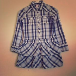Justice plaid casual dress